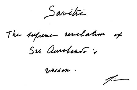 "Image result for ""Savitri"" de Sri Aurobindo"
